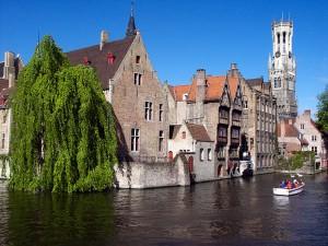 Brugge Canal Rozenhoedkaai